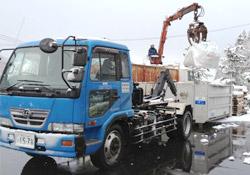 産業廃棄物詰め込み